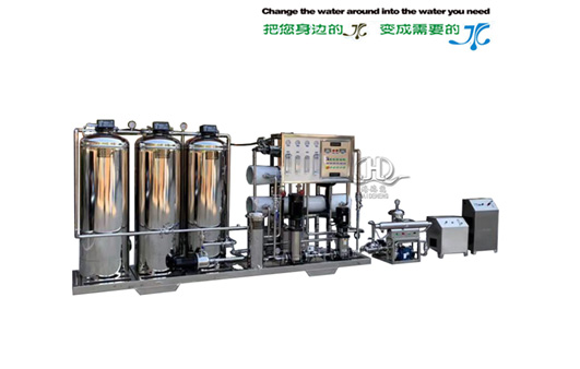 HDNRO_ Model 500 two-stage plus 2000 one-stage reverse osmosis purified water equipment